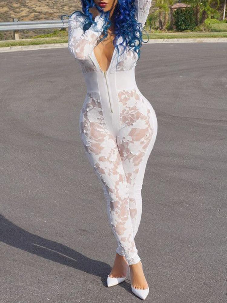 Sexy See Through Party Jumpsuit