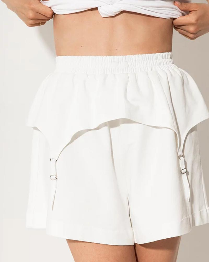 Solid Color Loose Sport Short Pants