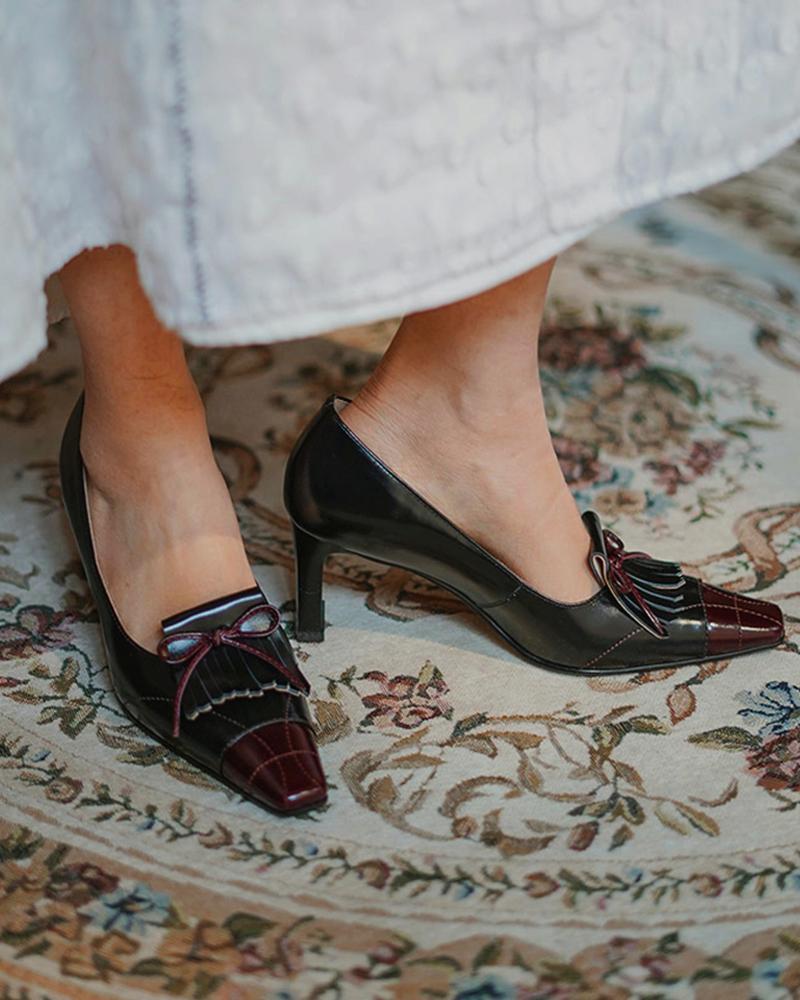 Solid Sqaure-toe High Heel Sequin High Heel Sandals