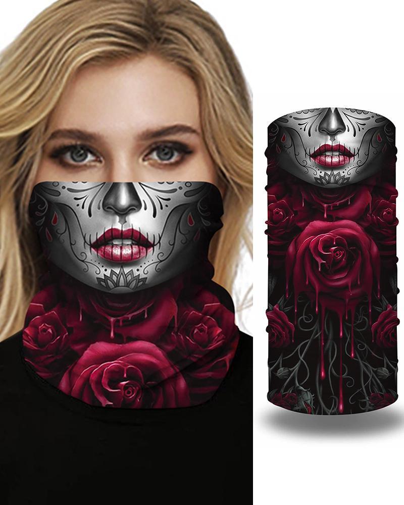 Skull Print Breathable FaceBandana Magic Scarf Headwrap Balaclava thumbnail