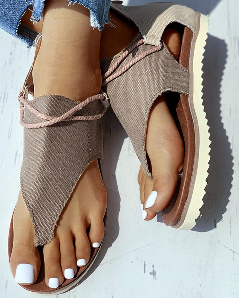 Cut Out Flat Sandals thumbnail