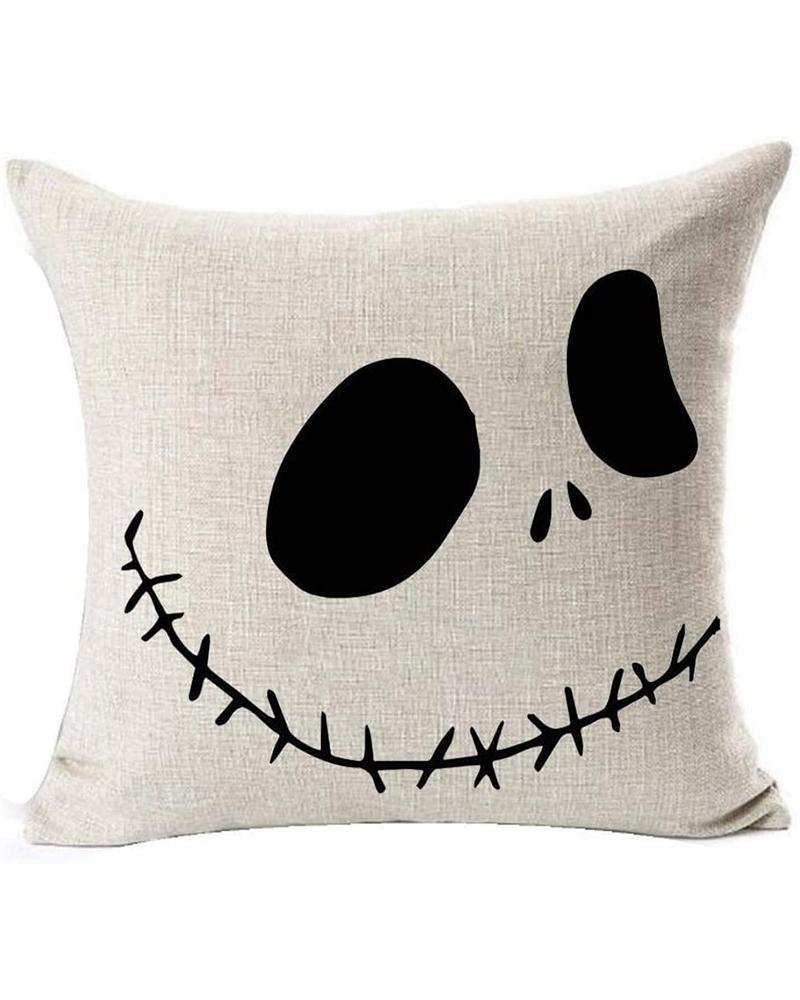Nightmare Before Christmas Cotton Linen Square Throw Pillow Case Decorative Cushion Cover Pillowcover for Sofa 18