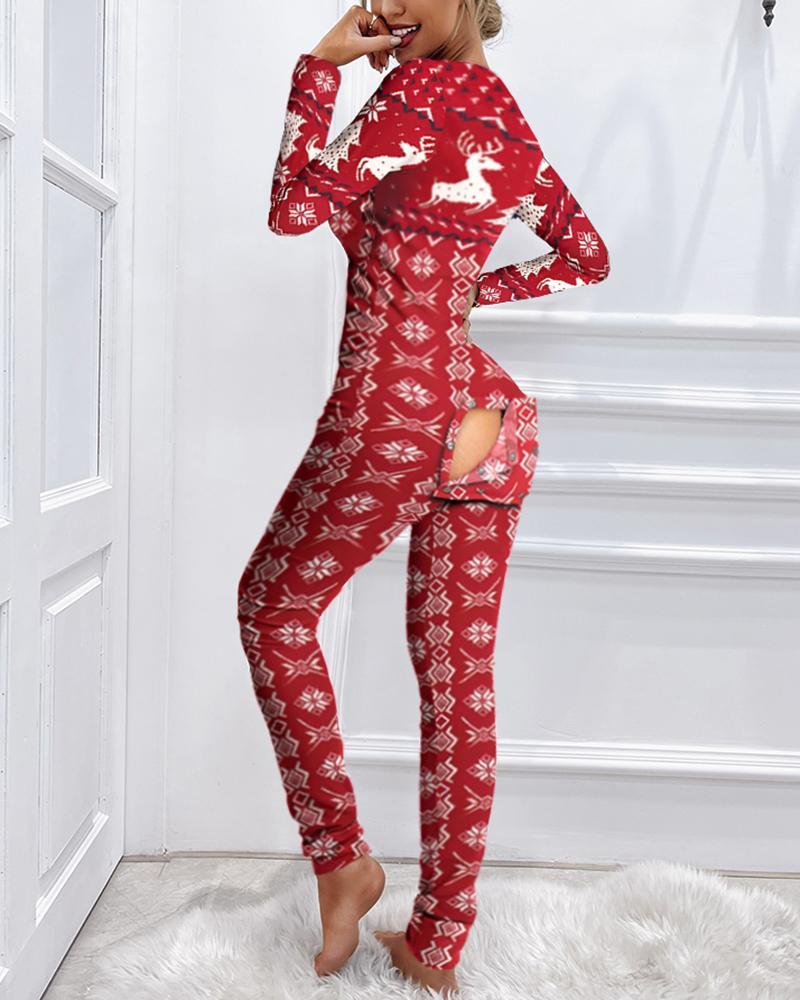 Pyjama de Noël à rabat fonctionnel avec rabat
