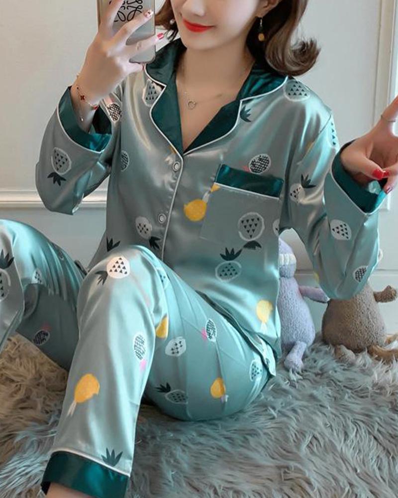 Pyjama deux pièces en satin