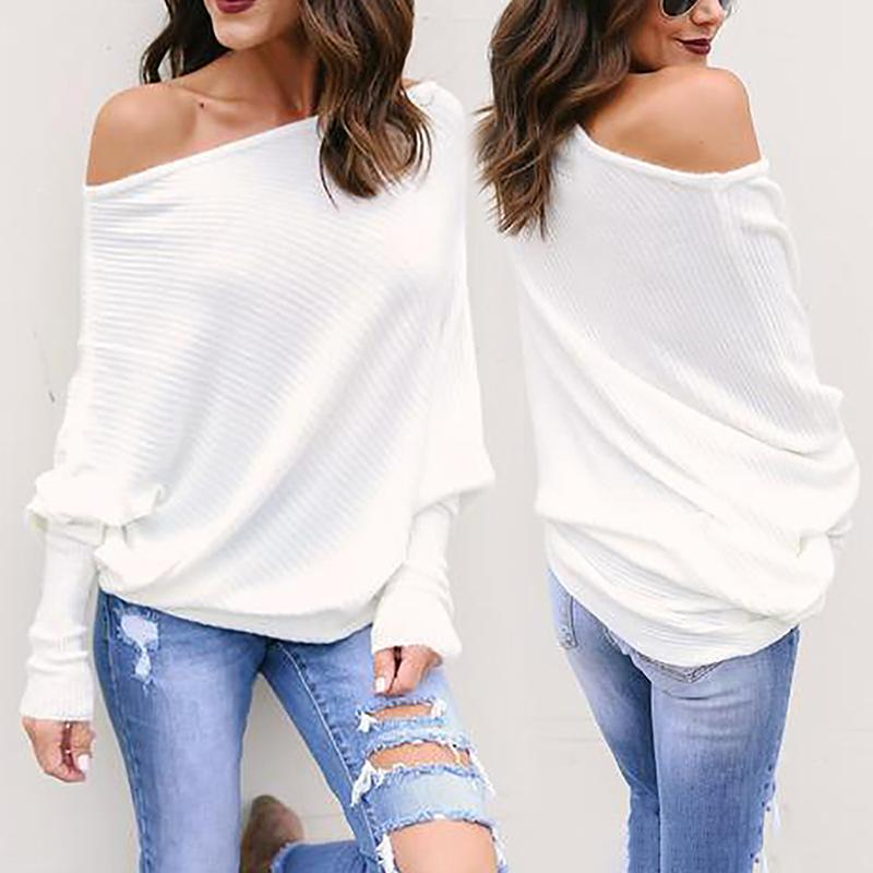 ChicMe coupon: Trendy Skew Neck Batwing Sleeve Blouse