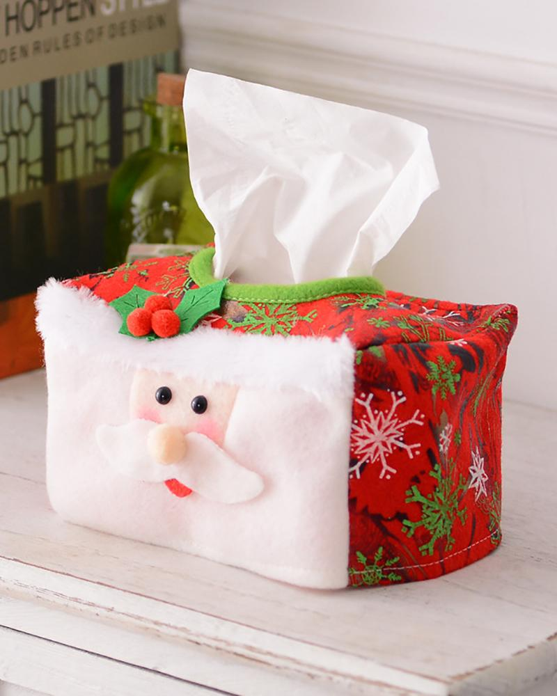 Christmas Tissue Box Cover Tissue Box Decor Tissue Holder Xmas Tissue Case Xmas Party Supplies