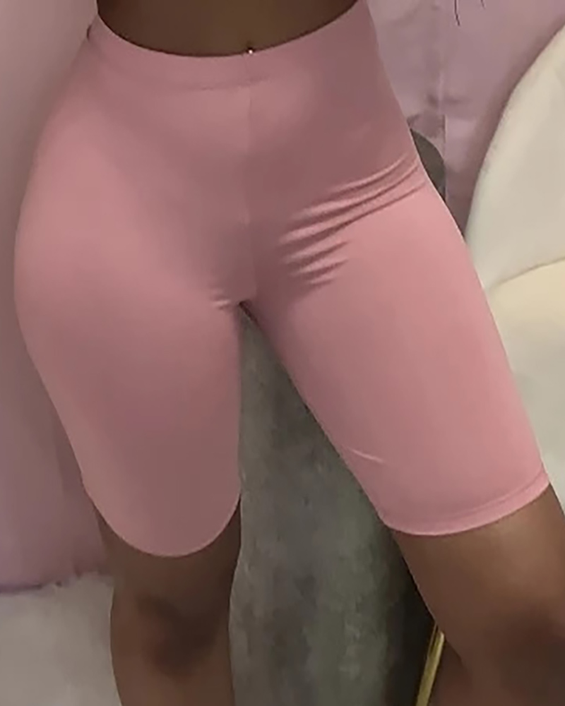 High Waisted Butt Lifting Tummy Control Yoga Shorts