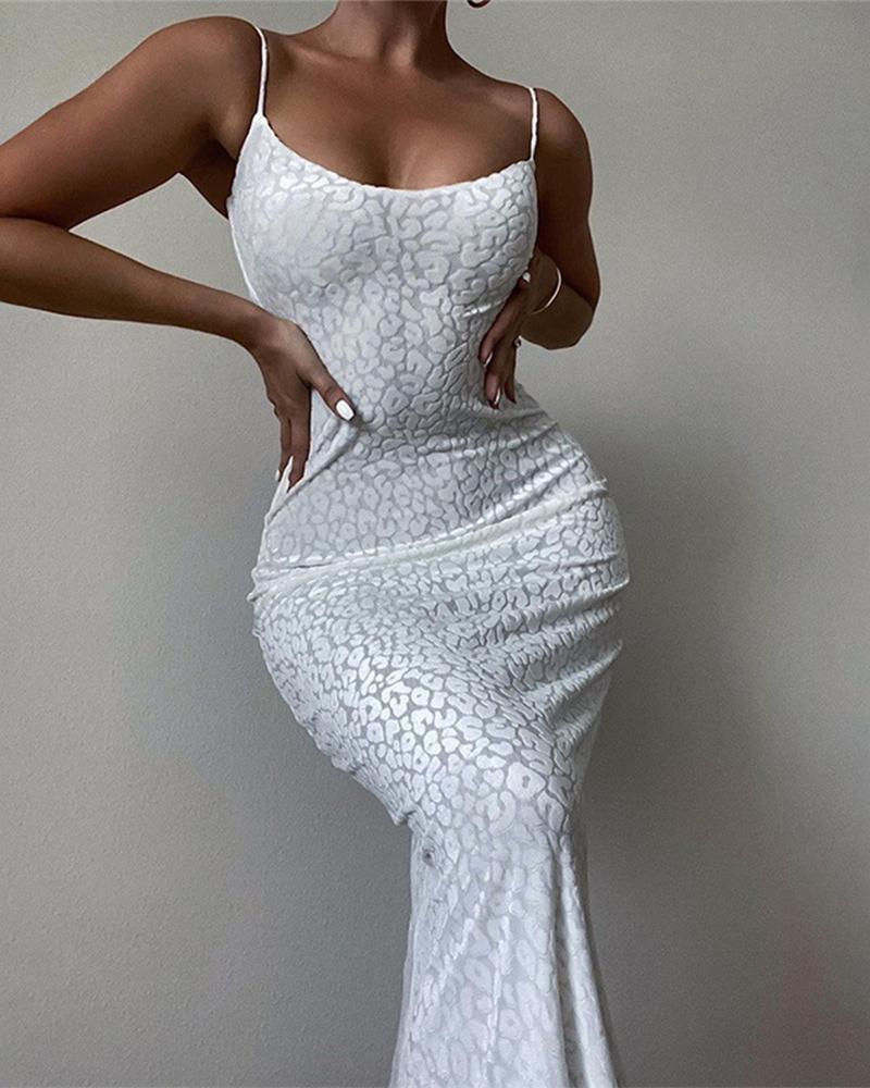Leopard Print Prom Cami Maxi Dress thumbnail
